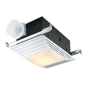broan, 70 cfm ceiling exhaust fan with light and heater