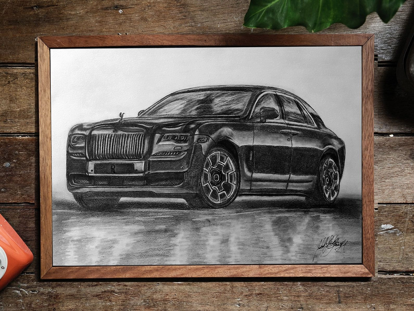 Rolls Royce Ghost Interior CARS1804 Art Print Poster A4 A3 A2 A1
