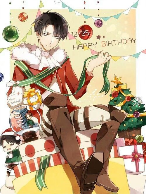 Happy Birthday Levi Eren Christmas Text Attack On Titan Anime Christmas Attack On Titan Levi Attack On Titan
