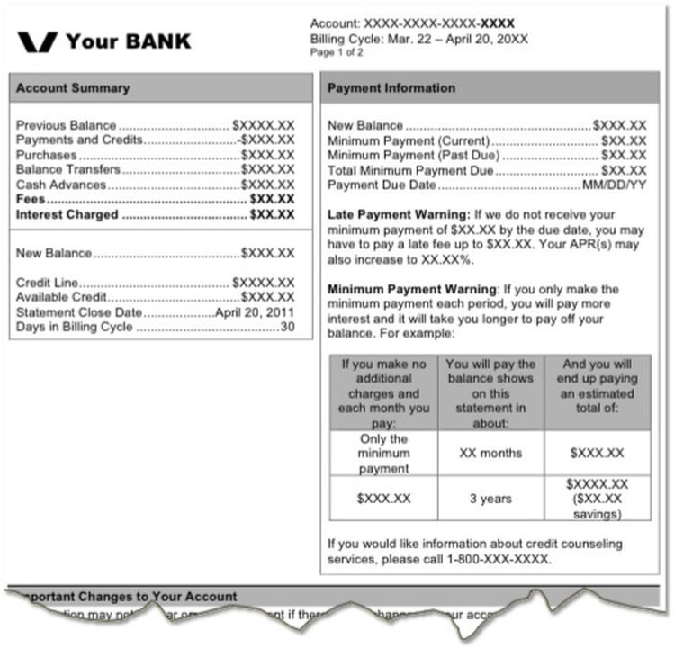 Decoding Your Credit Card Billing Statement Credit Card Statement Statement Template Credit Card