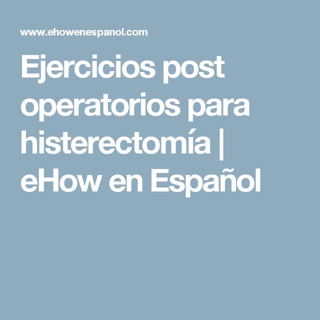 Perdida de peso tras histerectomia abdominal pain