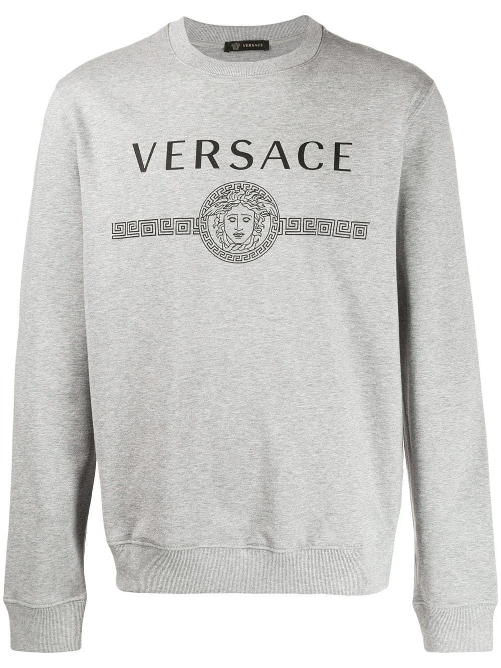 f0a36d4a Versace logo print sweatshirt - Grey in 2019 | Products | Versace ...