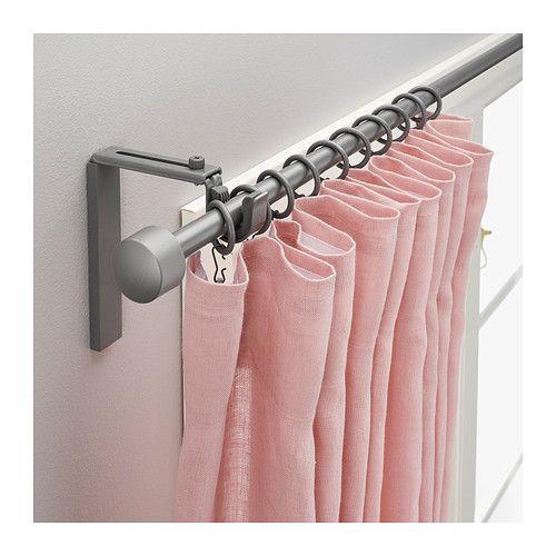 R cka comb barra cortina gris plata colgar las cortinas for Cortinas gris plata