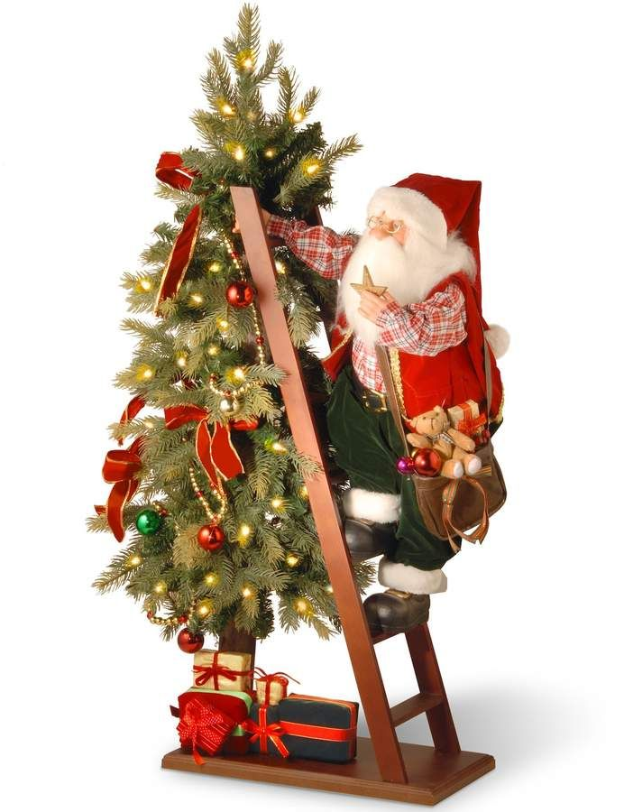National Tree Company 42 Plush Collection Tree And Santa With Battery Operated Led Lights Christmas Tree Store Christmas Tree Shop Christmas Tree Sale