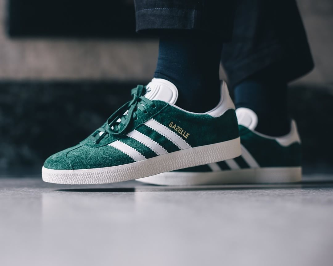 adidas Gazelle Collegiate Green #sneakers #sneakernews