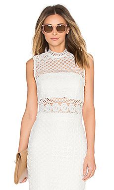 Shop for Bardot Calista Lace Top in Ivory at REVOLVE. Free 2-3 day shipping and returns, 30 day price match guarantee.