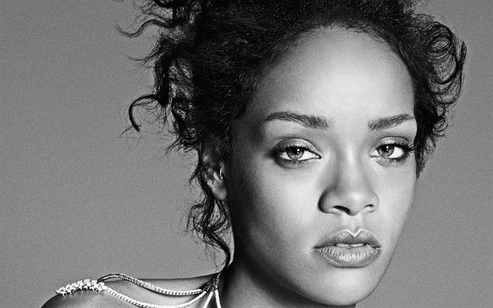 Download wallpapers Rihanna, portrait, photoshoot, face