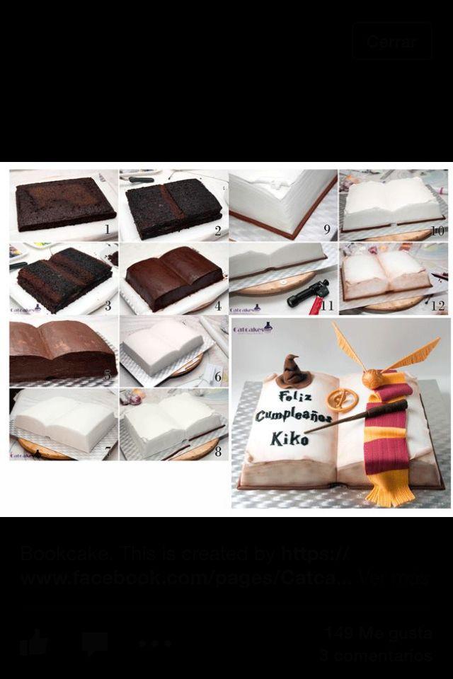 tarta libro harry potter torten deko pinterest kuchen torten und b cher. Black Bedroom Furniture Sets. Home Design Ideas