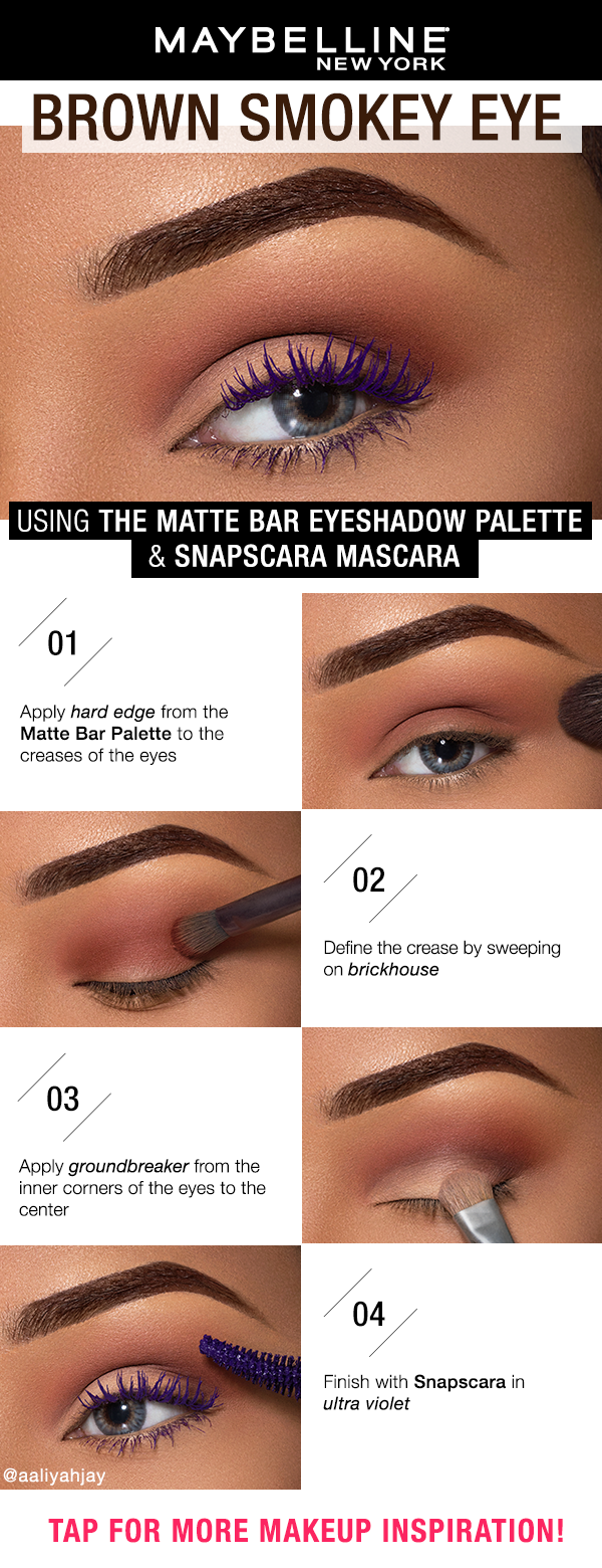 9f7a4012555 Looking for an easy everyday makeup look? Sweep on the Maybelline Matte Bar  Eyeshadow Palette