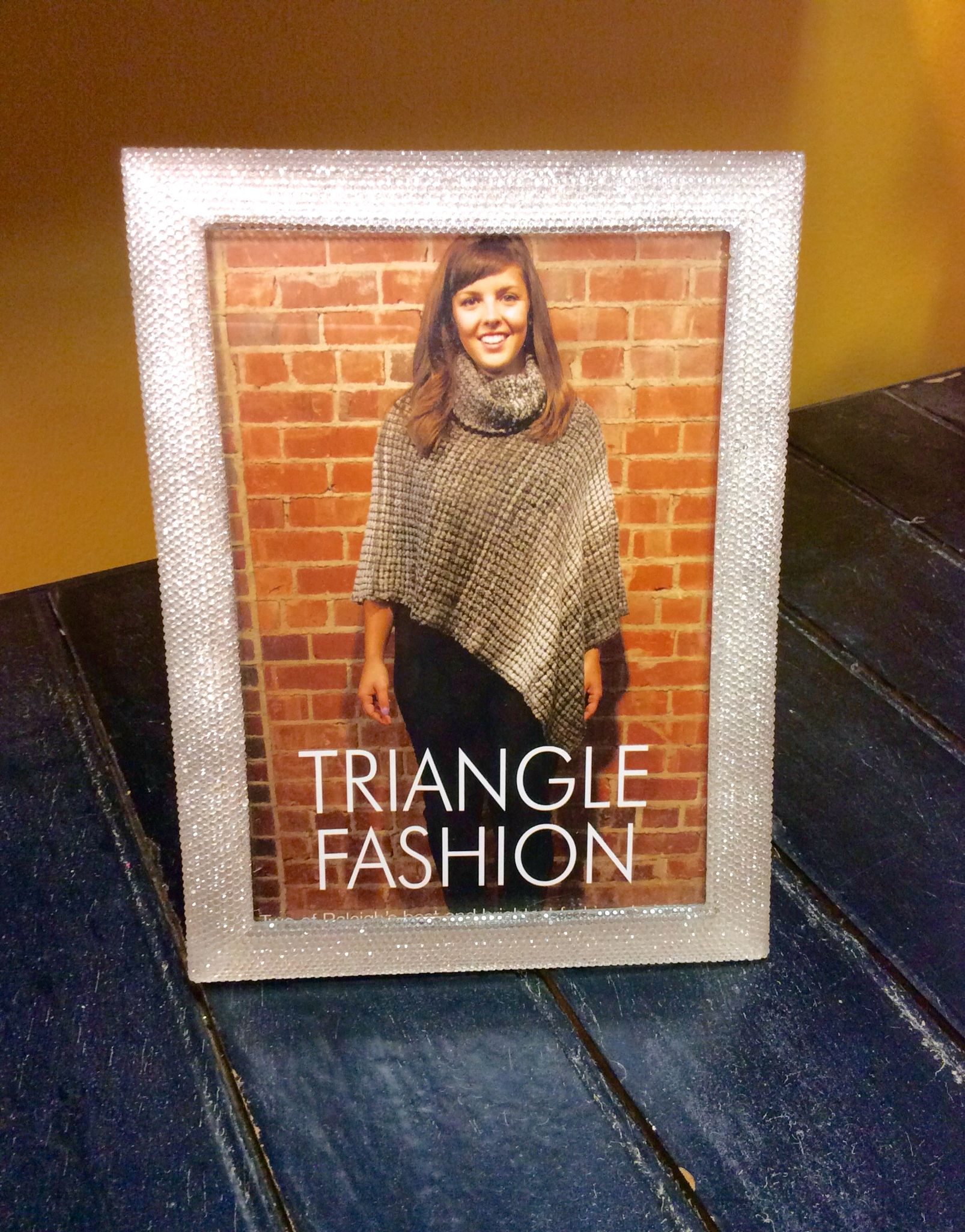 $20 ::: Let this #sparkly picture frame add some #glam to your home! Call us at 919.462.9618 so we can ship to you!