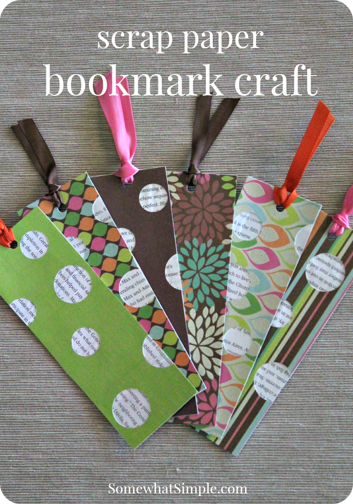 Bookmark craft for kids a book review paper bookmarks for Book craft ideas