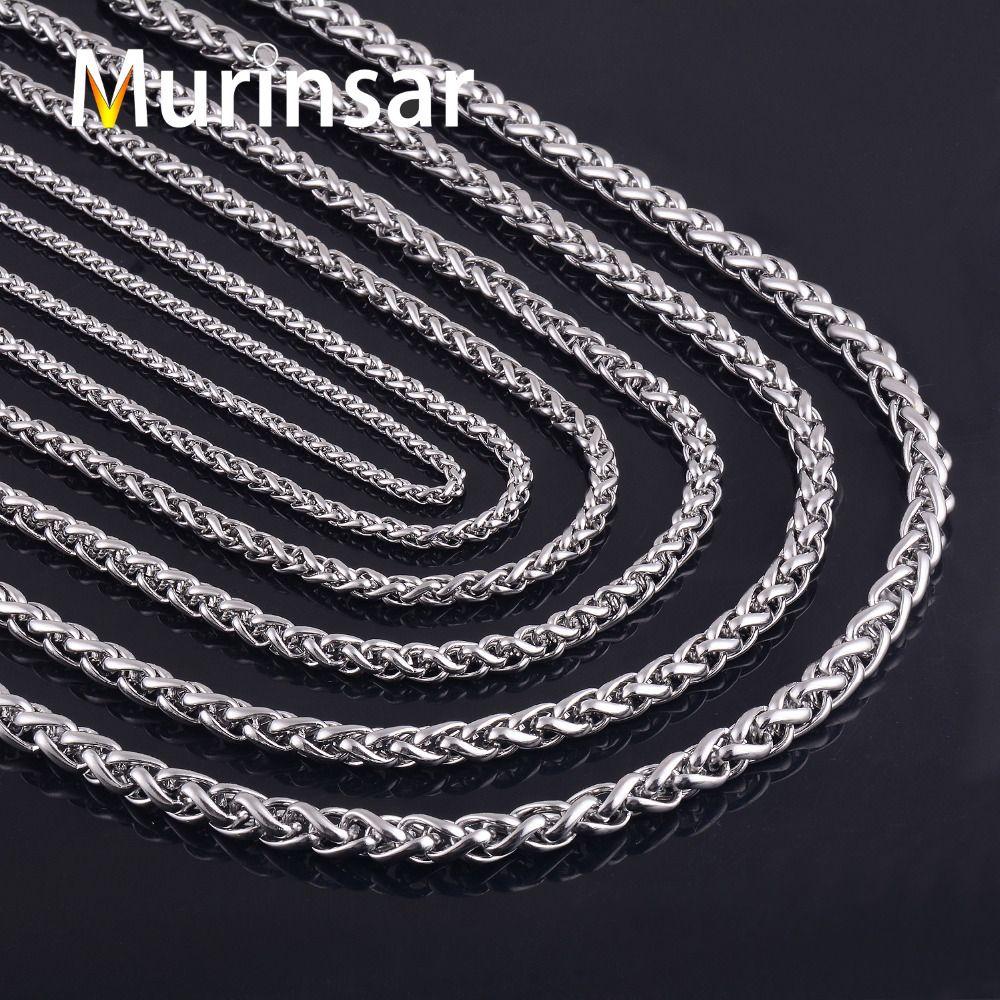 316L Edelstahl Halskette Breite 3 4 5 6 7 8mm Länge Angepasst Runde Gliederkette Edelstahl Schmuck großhandel