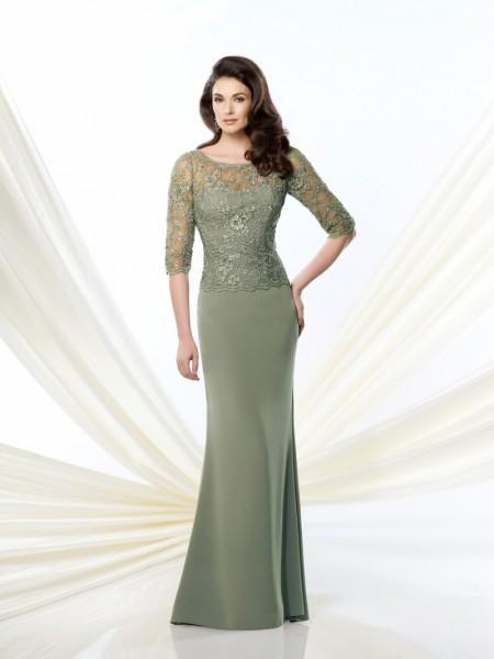 Modern Illusion Green Chiffon Mother Of The Bride Dress B2mc0101 – Wishesbridal.com ✿  ☺
