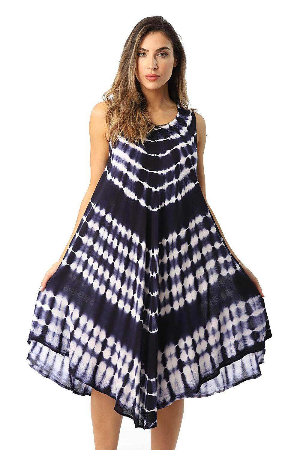 678bd1449e Riviera Sun Tie Dye Summer Dress Beach Cover up at Amazon Womens Clothing  store, Amazon Affiliate link. Click image for detail, #Amazon #riviera #sun  #tie ...