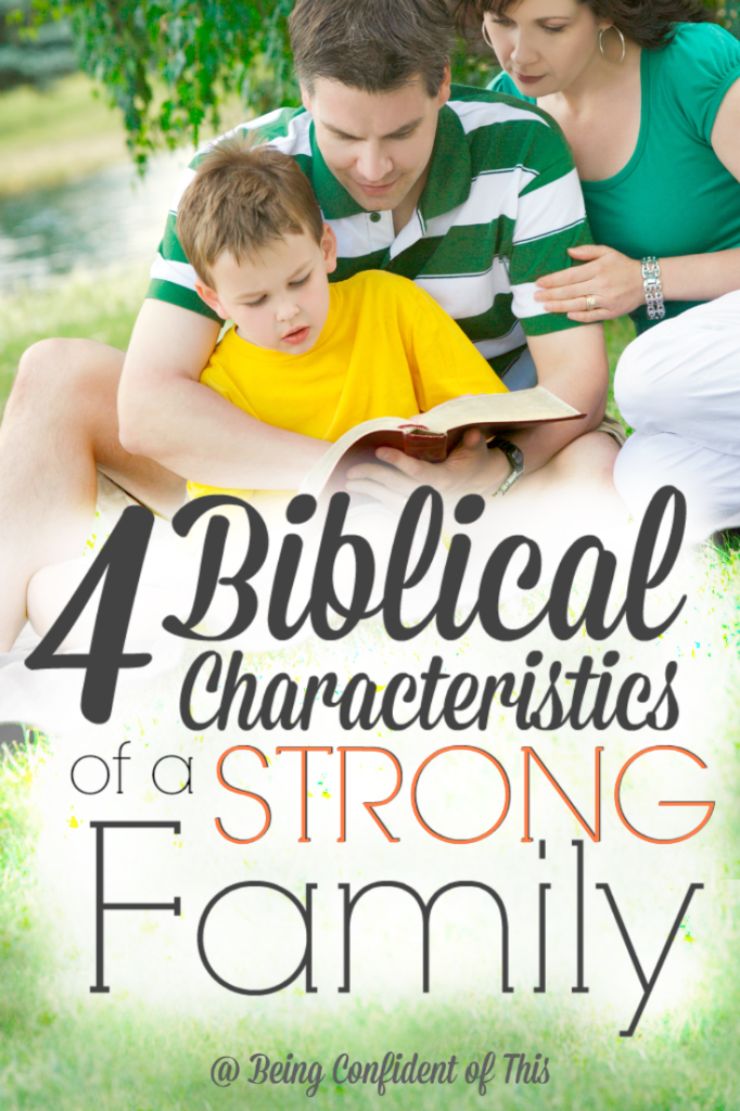 Strong families don't happen by accident. Building a strong family requires a biblical foundation followed up with practical habits that build family ties. Does your family have these 4 biblical characteristics? Follow along in the We Are Fa-mi-ly series at Being Confident of This