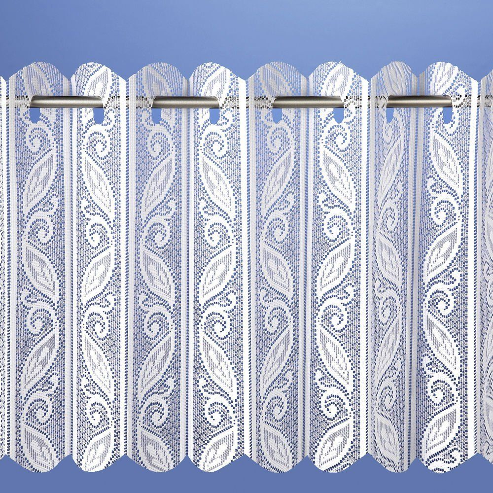 Filigree Lace Net Voile Louvre Vertical Pleated Window Blind Panel