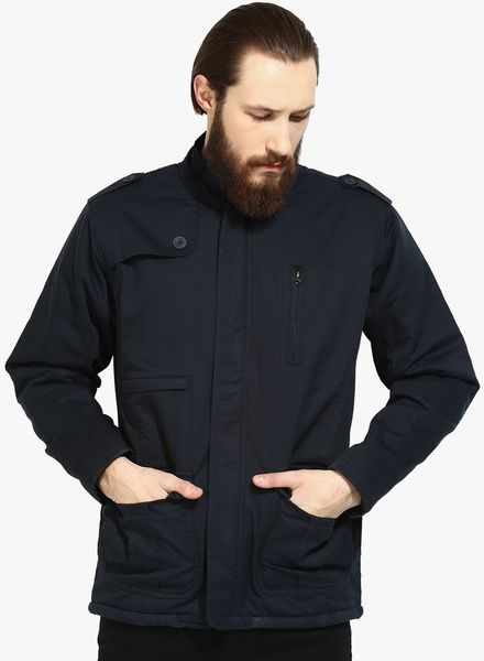 Buy Cobb Navy Blue Solid Casual Jacket for Men Online India, Best ...