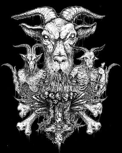 You've seen Mark Riddick's artwork. Even if his name is unfamiliar to you, any fan of extreme metal has come across Riddick's black-and-white illustrations of inverted cross-clutching revenants and festering, desiccated skulls. Maybe it was on the cover of an Arsis album, all of which bear original Riddick work. Maybe it was in the margins of PIT Magazine,
