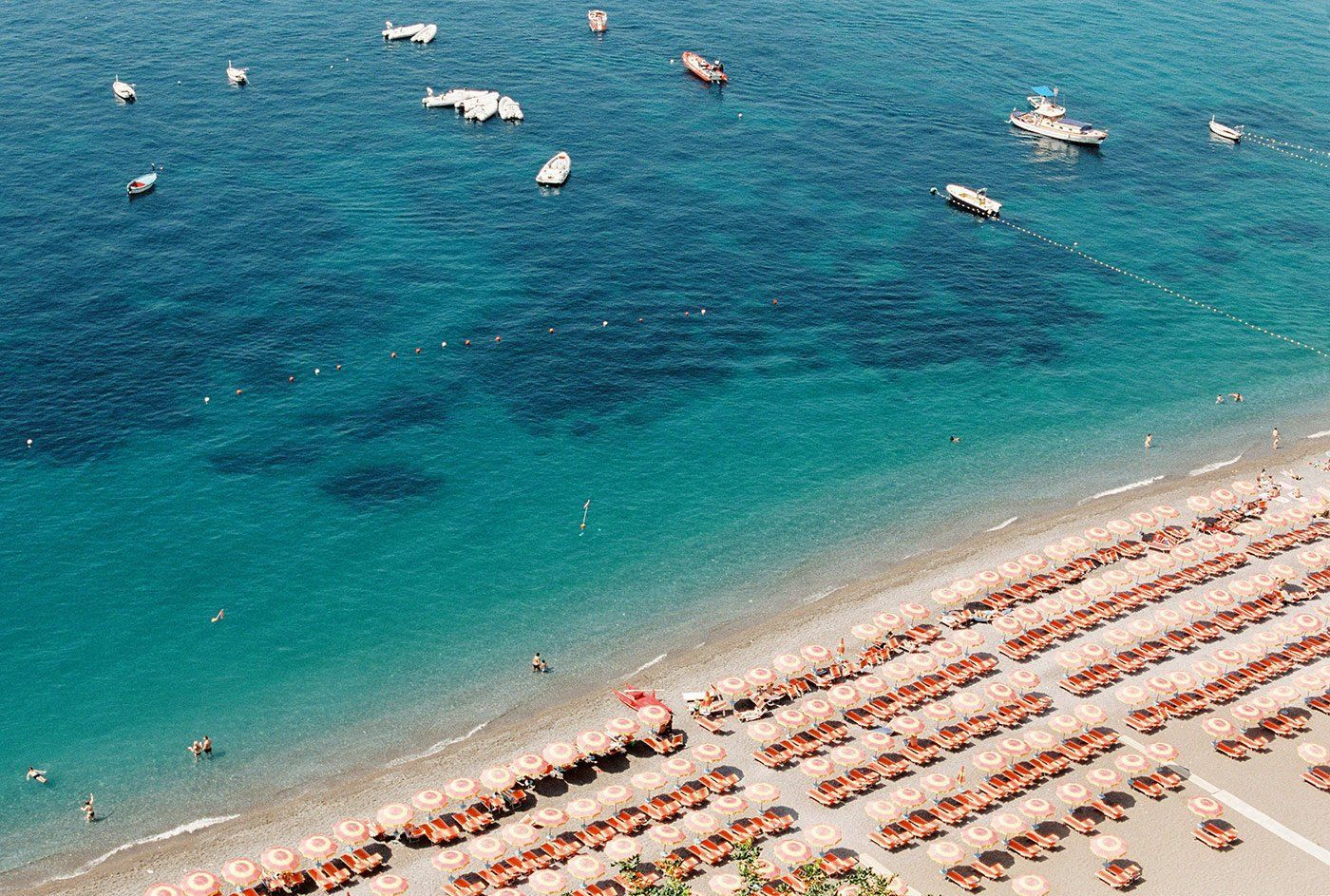 Arial Beach Positano Italy Travel Photo Fine Art Photographic Print By Ashley Ludaescher Photography