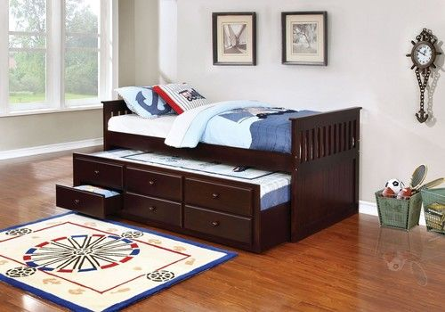 Espresso Twin Daybed With Trundle Storage 300106 Trundle Day