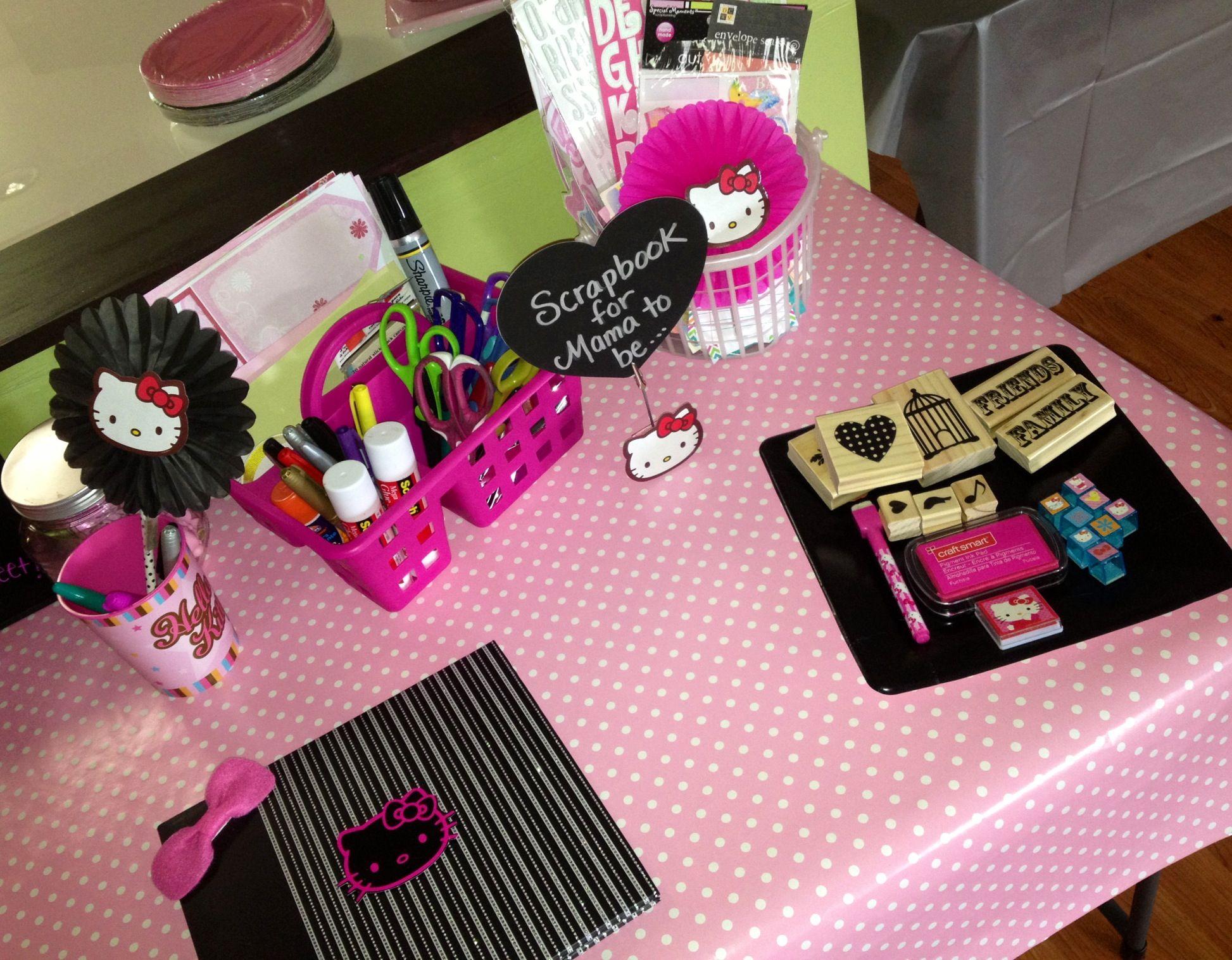 Scrapbook ideas hello kitty - Hello Kitty Baby Shower Activity Scrapbook Corner Make A Page To Put In Scrapbook
