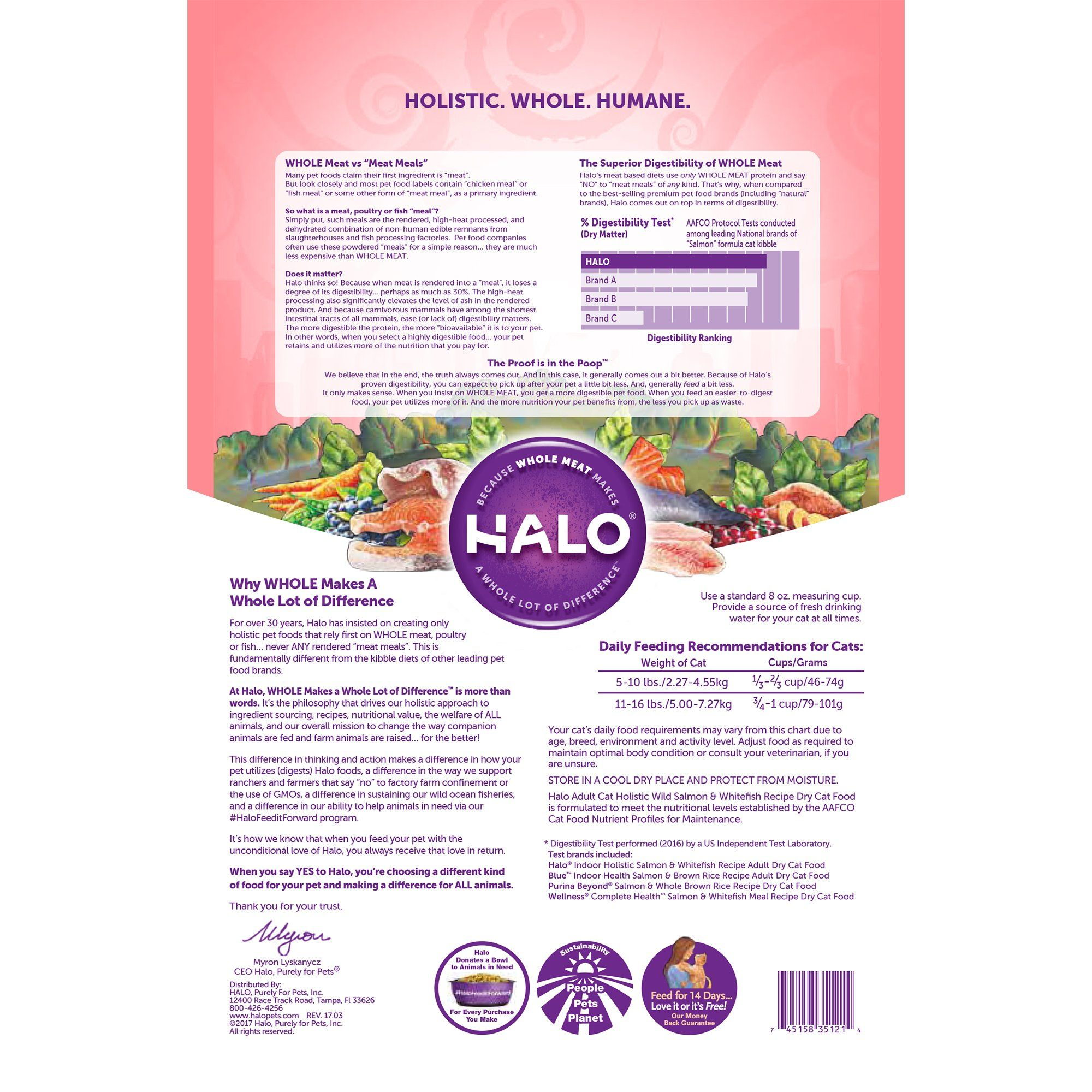 Halo Holistic Dry Cat Food Wild Salmon And Whitefish Recipe 11 5 Lb Bag Of Natural Cat Food More Info C Grain Free Dog Food Dry Cat Food Small Breed Dog Food