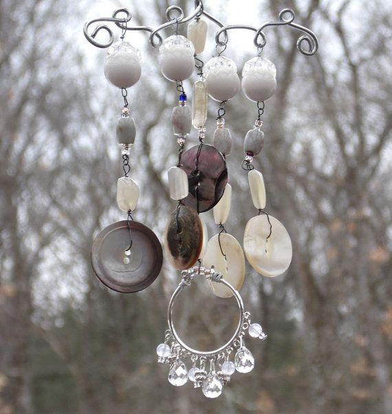 Vintage Mother Of Pearl Button And Upcycled Jewelry