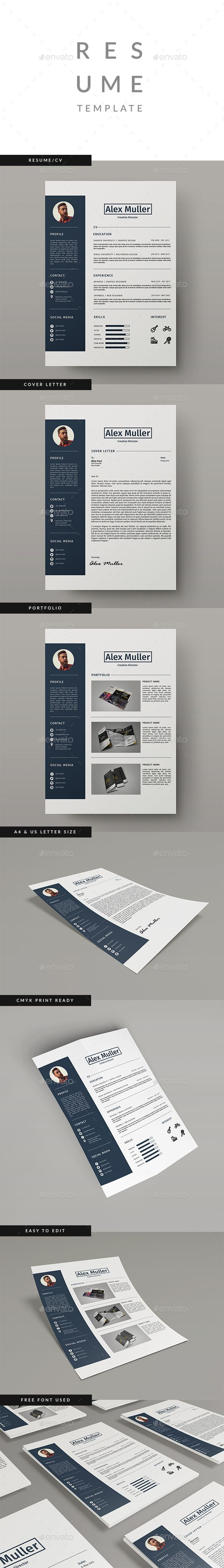 Resume Template Indesign Indd   Everyday