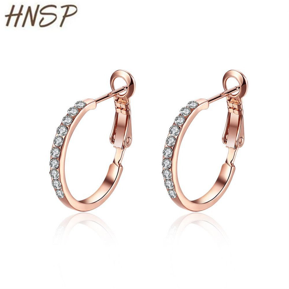 07501d7f52f804 ... Buy Quality hoop earrings for women directly from China hoop earrings  Suppliers: HNSP High Quality Small Hoop Earrings For Women Female Rose gold  color ...
