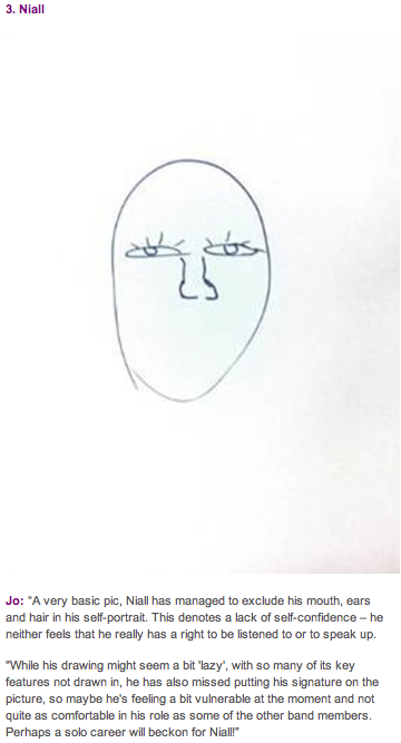 Nialls Drawing And A Psychologists Analogy Of It I Think You Get The Point One Direction I Love Him Niall Horan Facts