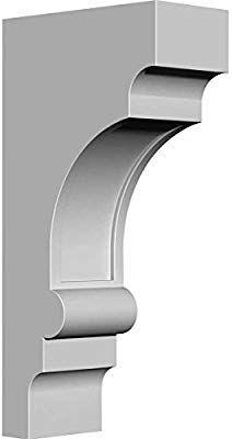 Ekena Millwork Bkt05x07x14di 5 Inch W X 7 Inch D X 14 Inch H Diane Bracket Millwork Corbels House Front Wall Design House Outside Design House Front Design