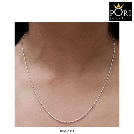 Pori Italian Solid Sterling Silver Chain Necklace - Assorted Styles at 89% Savings off Retail!