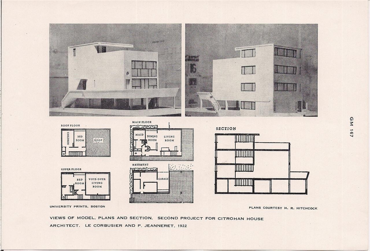 Le corbusier with pierre jeanneret citrohan house plans for Plan maison pierre