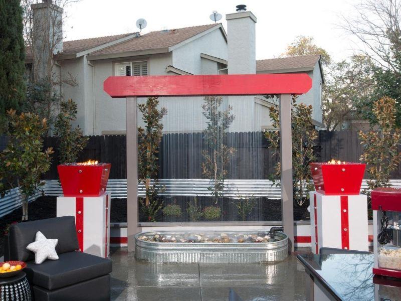 Wasserspiele im Garten-selber-bauen-vertikal-montieren Terrasse