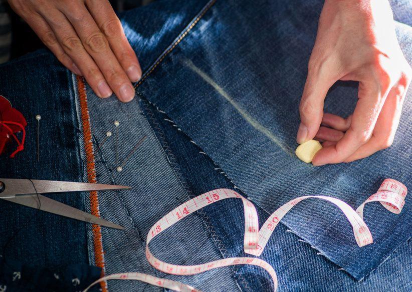Passend machen: Jeans enger nähen | Jeans, Faden