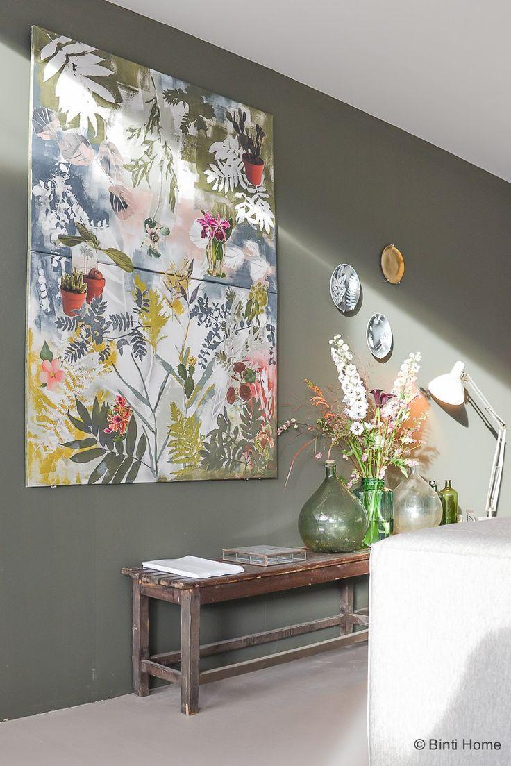 Vtwonen huis woonkamer inspiratie groene muur ©️️BintiHome   Hal ...