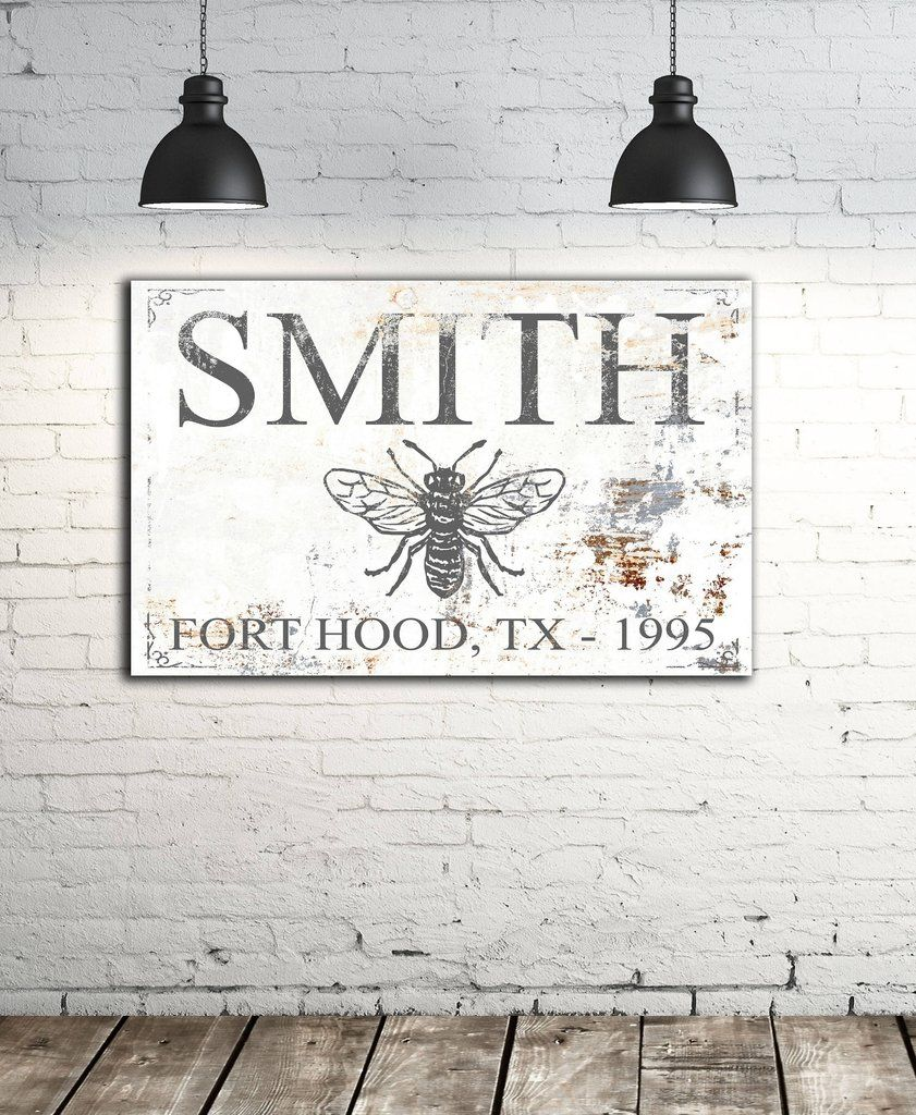 Modern last name sign personalized family wall art also rh pinterest