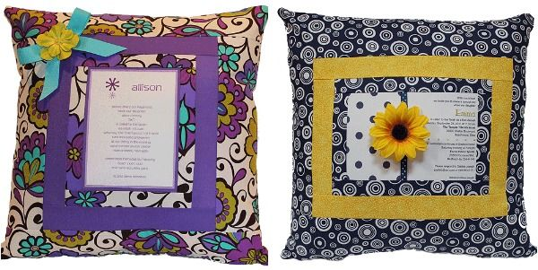 10 Bar & Bat Mitzvah Gift Ideas - Invitation Gift Pillows from Sew Many Gifts ...