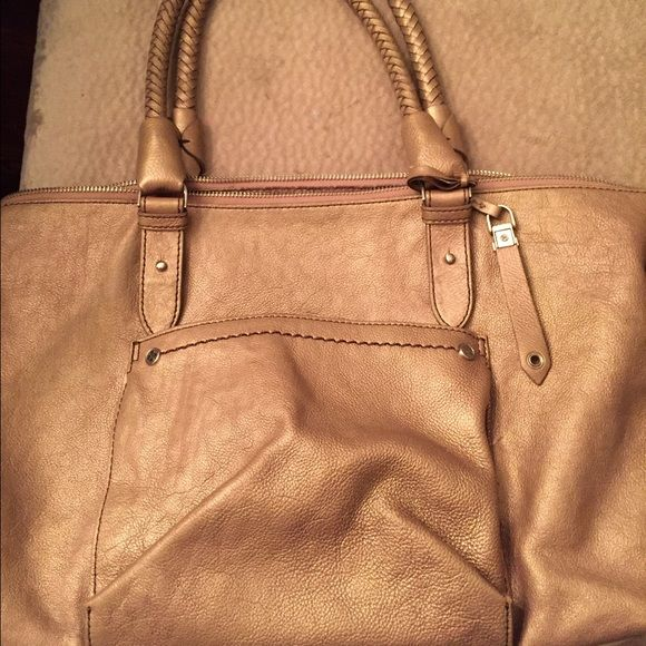 Cole Haan handbag. Cole Haan handbag.   Gold shimmer.   Very spacious.  Very good condition. Cole Haan Bags Satchels