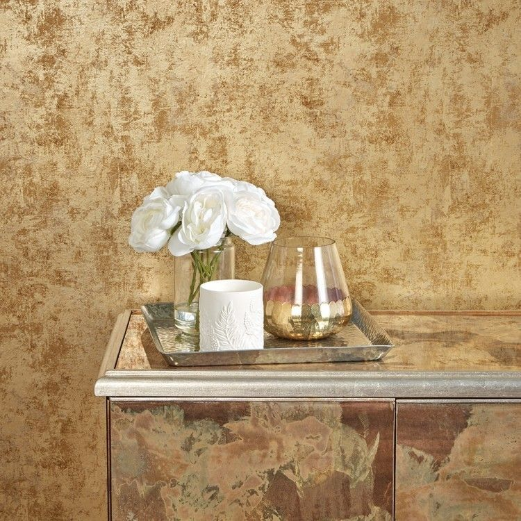 DISTRESSED GOLD LEAF Removable wallpaper, Peel and stick