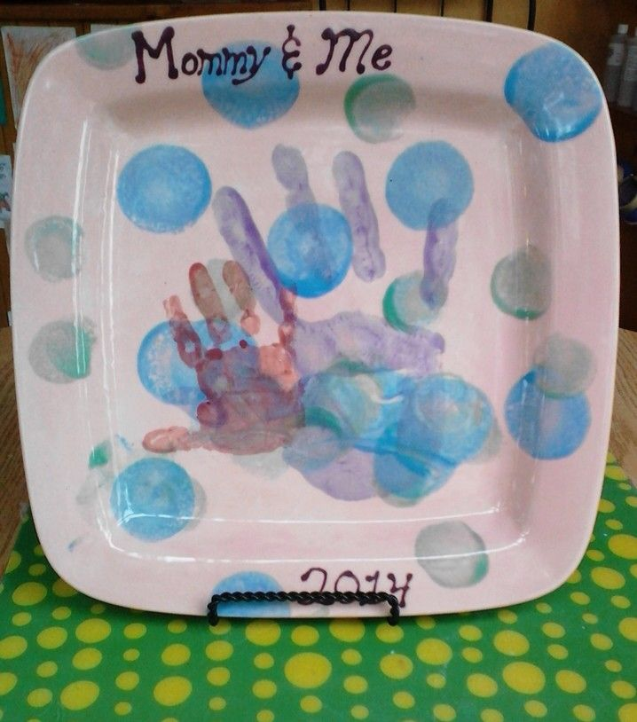 Mommy And Me Plate Painted By Customer