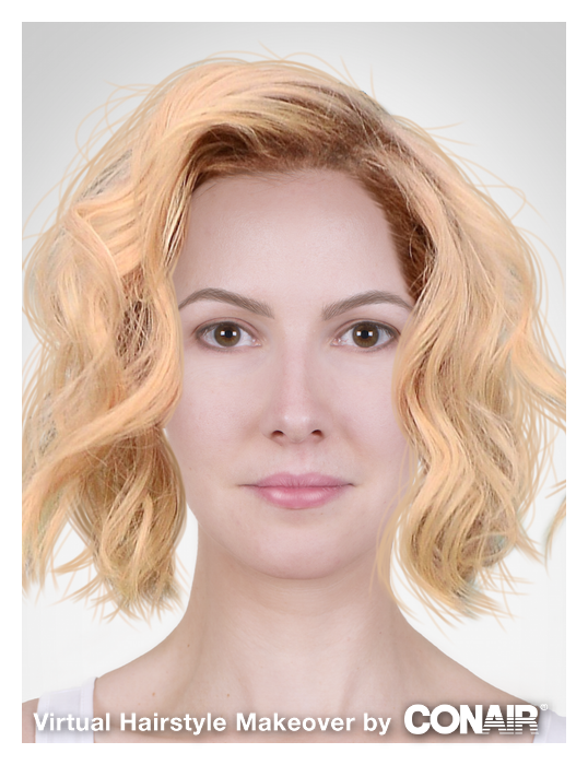 Virtual Hairstyles Enchanting That's My Virtual Hairstyle Makeover #conairmakeover Try It