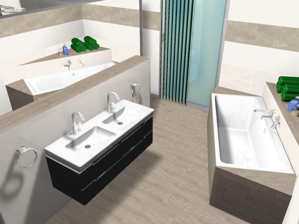 Fliesen und Badezimmer Planung im Neubau  Bathroom plans