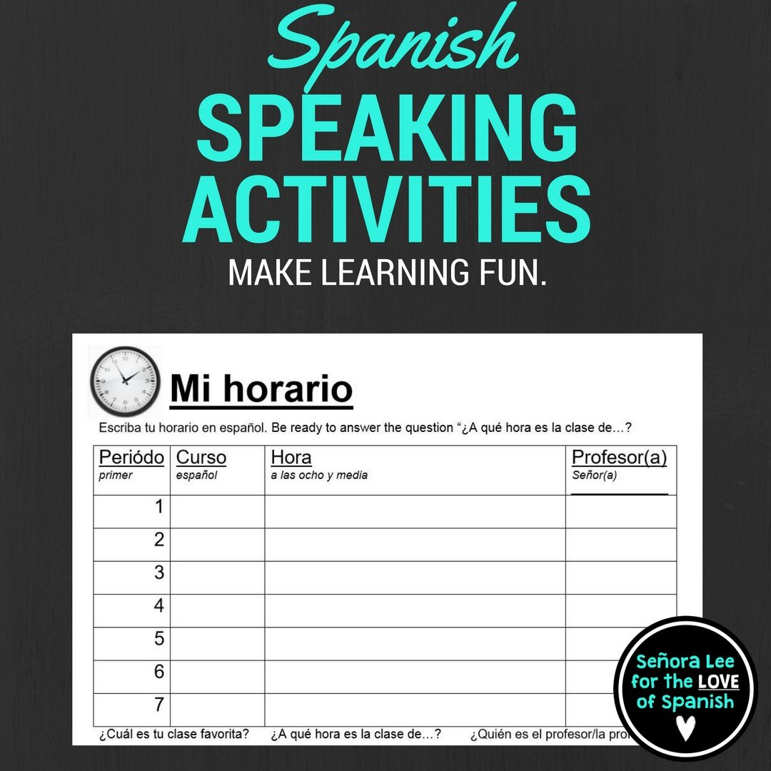 Spanish Time | Spanish Class Schedule and Speaking ... - photo#50