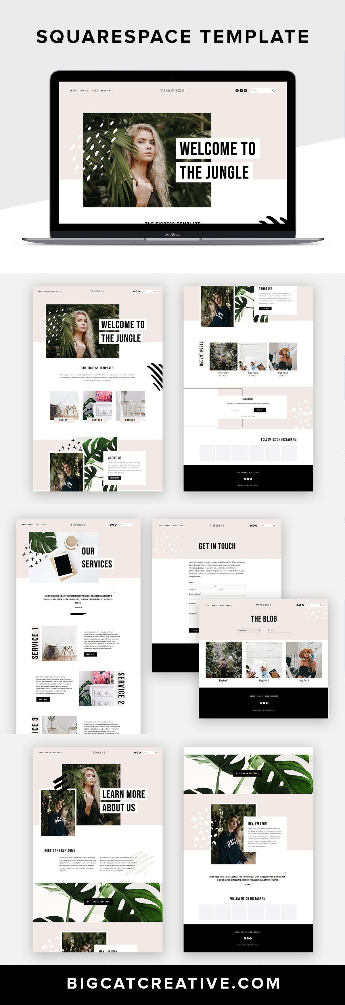 Tigress Squarespace Website Template By Big Cat Creative Squarespace Inspiration Diy Website Web Portfolio Web Design Business Web Design Web Design Tips