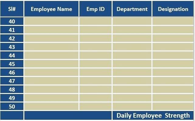 Employee Attendance Sheet Colorful Attendance Sheet  Time Table