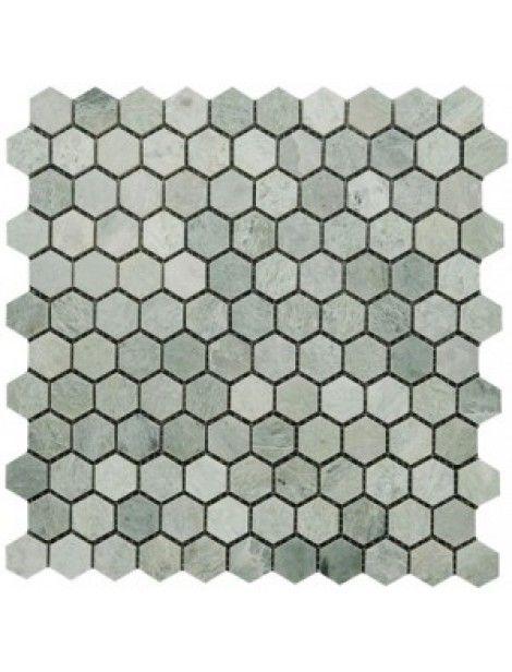 Ming Green 1 Hexagon Polished Marble Mosaic In 12 X 12 Sheet Green Mosaic Tiles Mosaic Tile Fireplace Hexagon Mosaic Tile