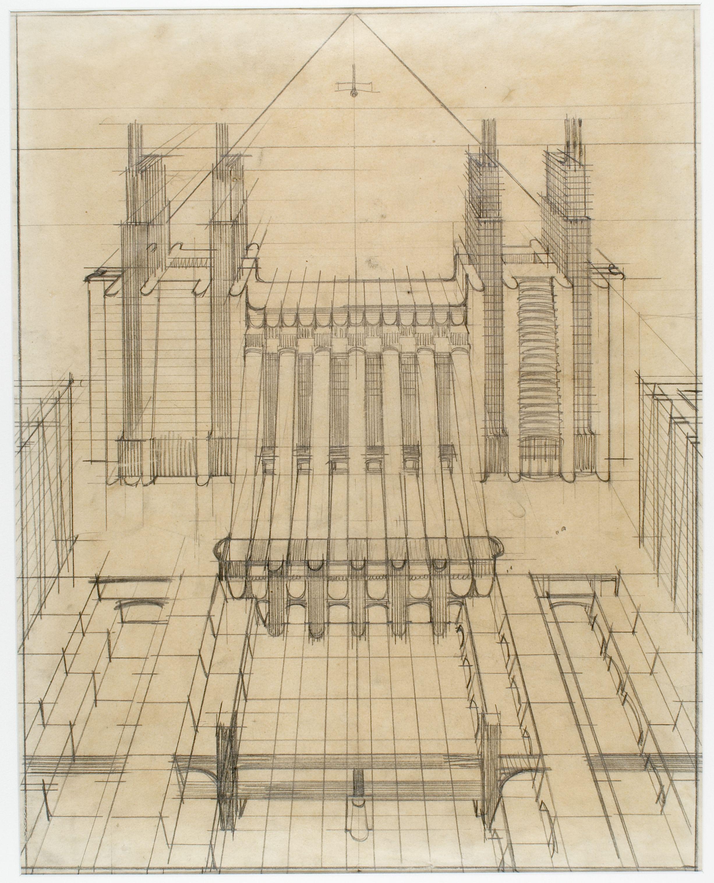Progetto Nuova stazione Centrale, Milano 1914, ANTONIO SANT'ELIA #Stazione #Station #Utopia