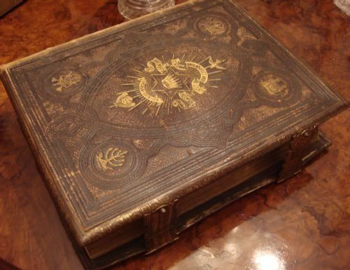 19th century large Brown's Self Interpreting family bible.