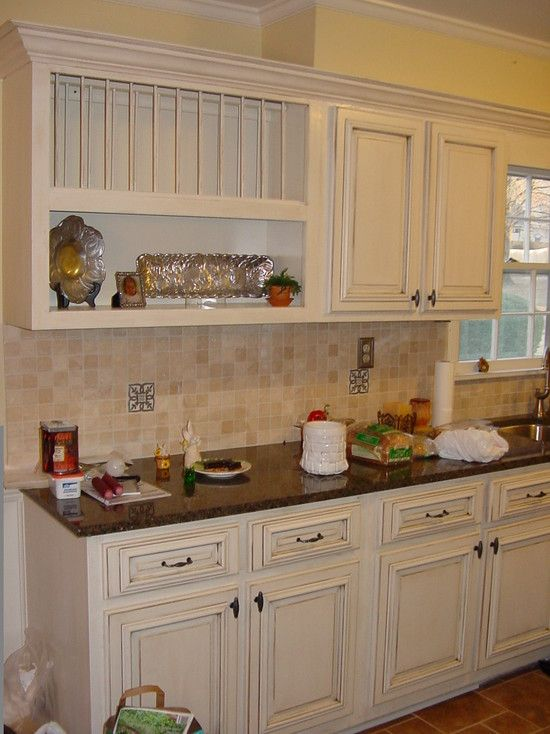 Kitchen Cream With Antique Brown Glaze Design Pictures Remodel